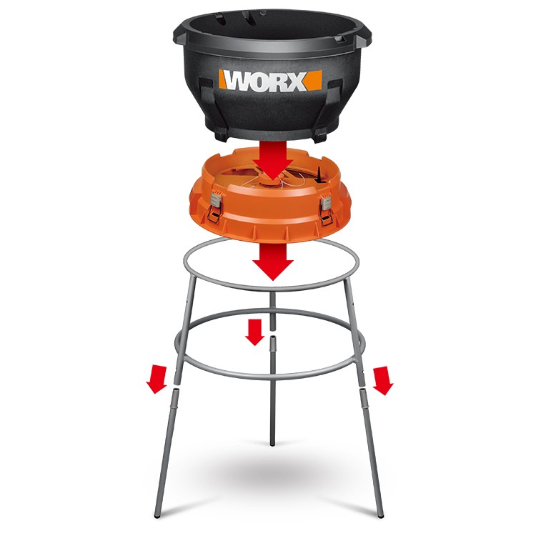 WORX leaf mulchers - assembling the WG430