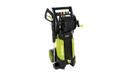 Sun Joe SPX3001, 2030 PSI, 1.76GPM, 14.5 Amp Electric Pressure Washer With Hose Reel, Green