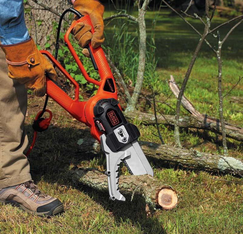 Black & Decker Alligator Lopper cutting tree on ground