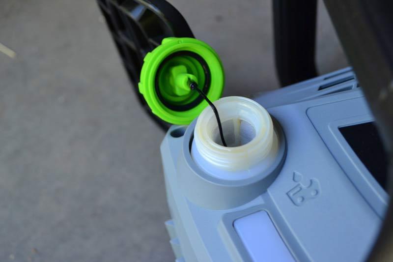 EGO Power+ Chainsaw oil hole