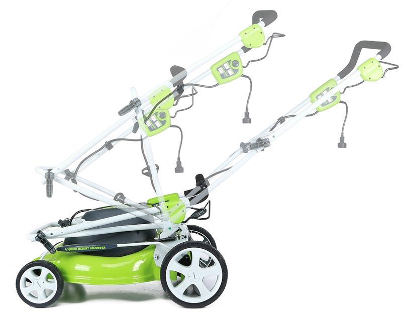 Greenworks 25022 Lawn Mower folding handle bar