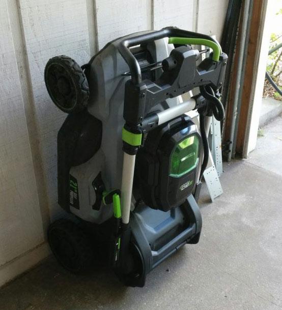 EGO Power mower folded