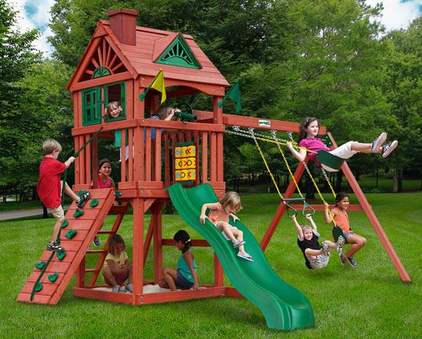 Gorilla Playsets Nantucket Wood Swing Set