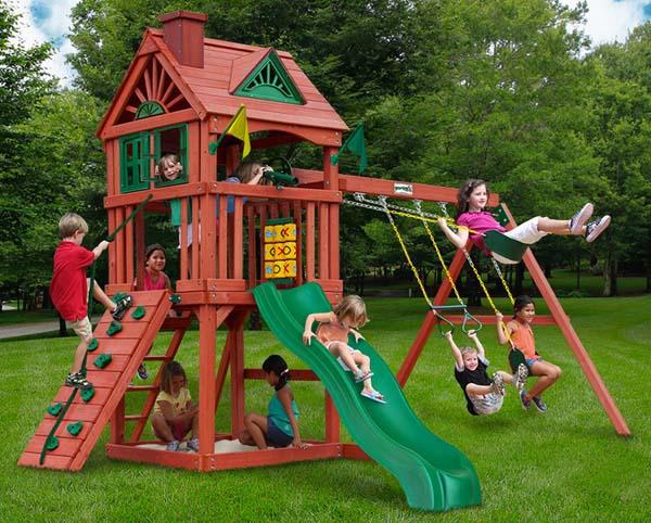 Gorilla Playsets 01-0021 Nantucket Wood Swing Set