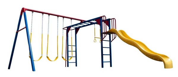 Lifetime Monkey Bar Adventure Swing Set