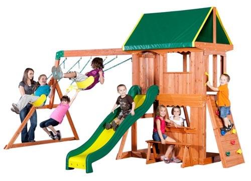 Somerset Wooden Swing Set