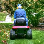 Man on a riding mower