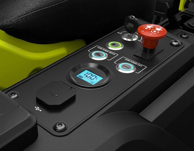 Ryobi ZT480e controls