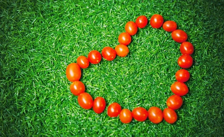 Tomatoes in heart shape