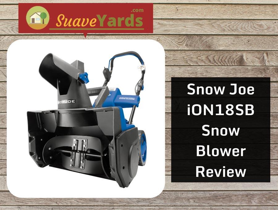 Snow Joe iON18SB snow blower header