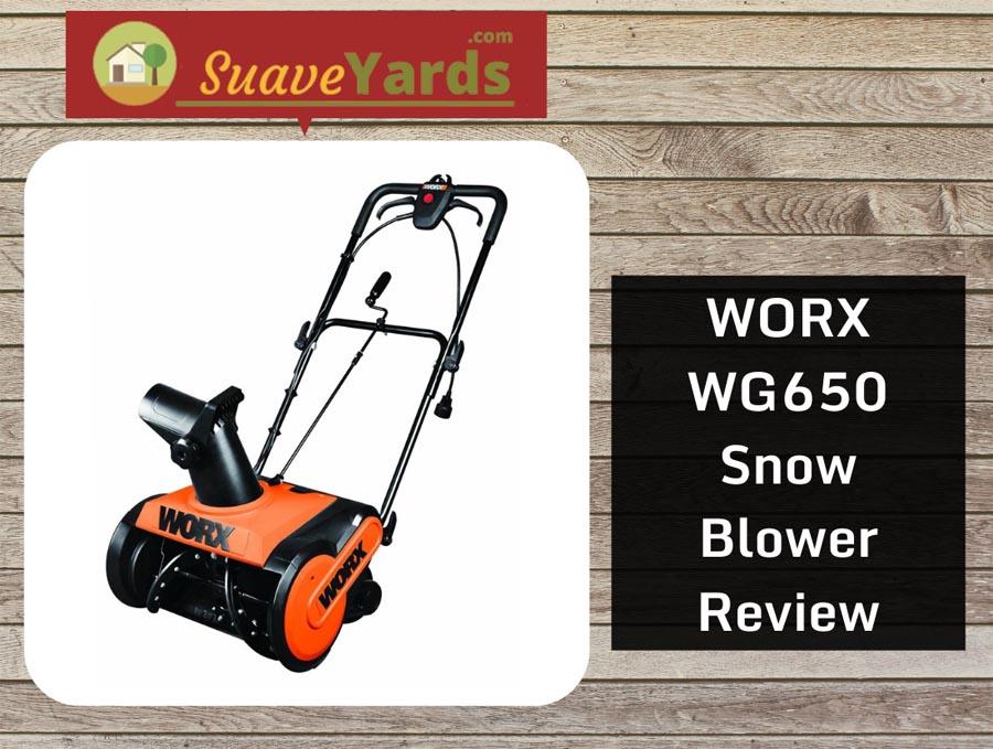 WORX WG650 snow blower header