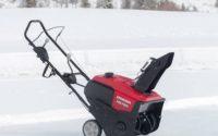 Single stage snow blower