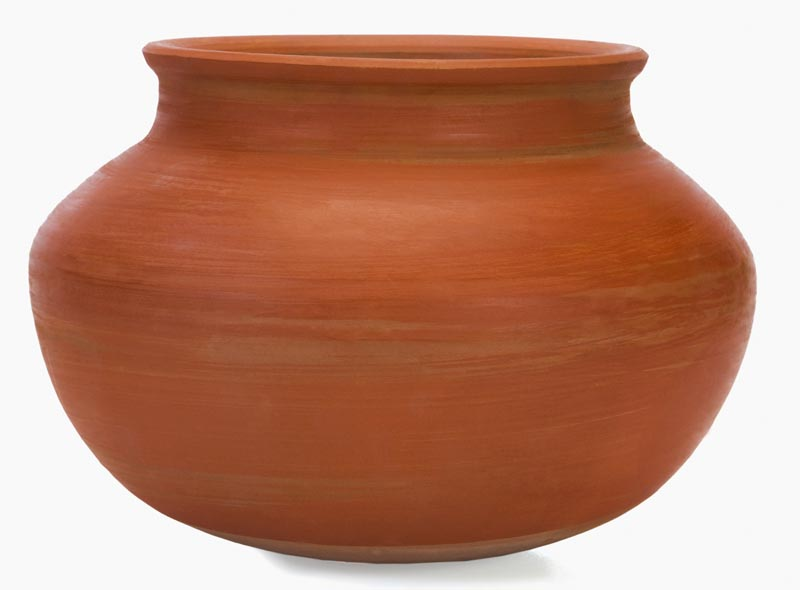 Close-up of a terracotta pot