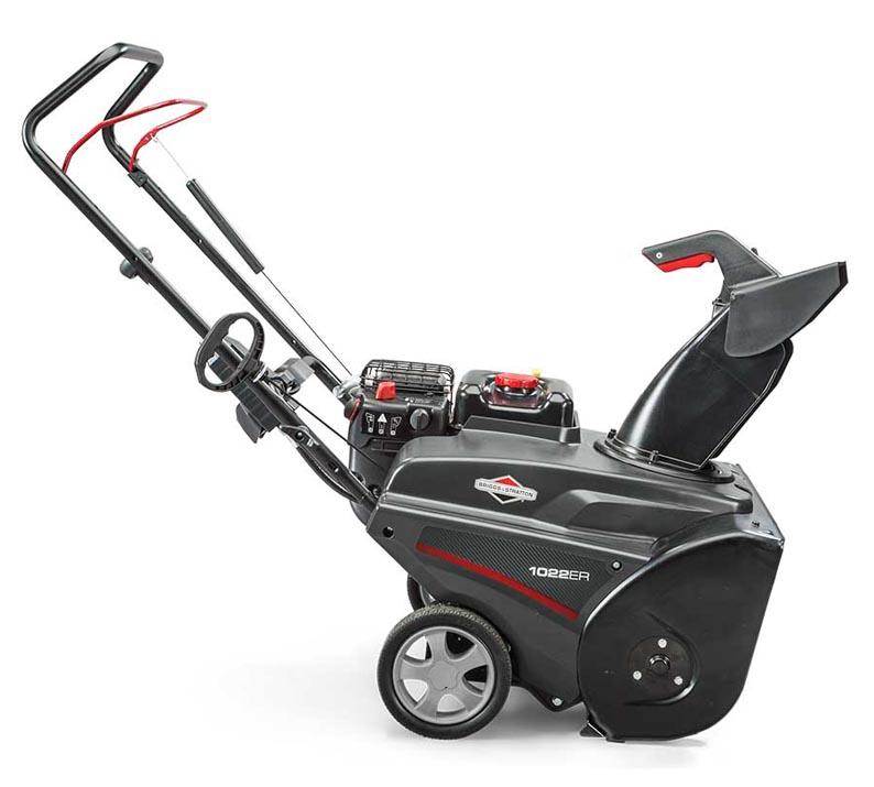 Briggs and Stratton Single Stage Snow Blower side view