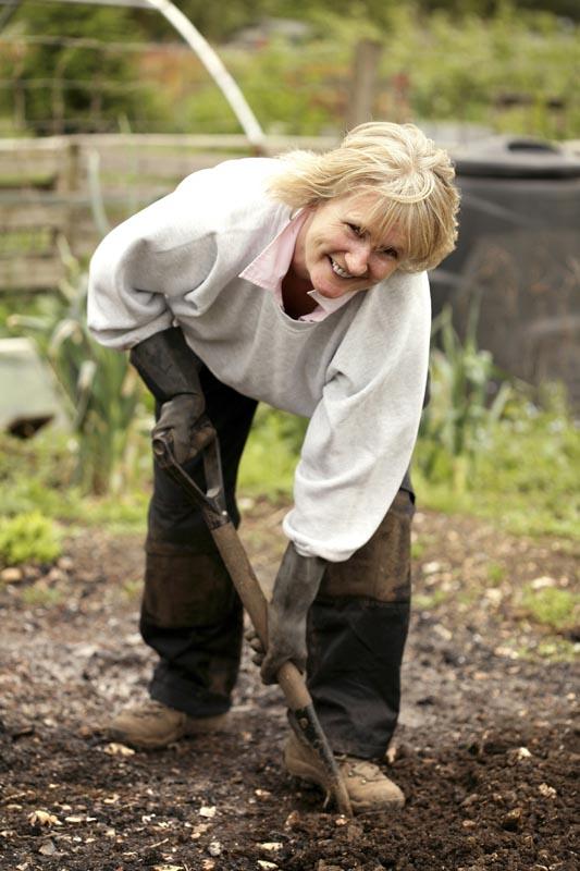 Lady digging