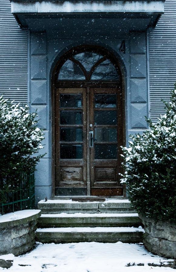 Snow door and steps