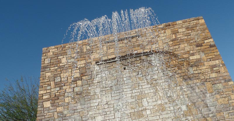 Brick wall waterfall
