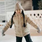 Young girl ice skating