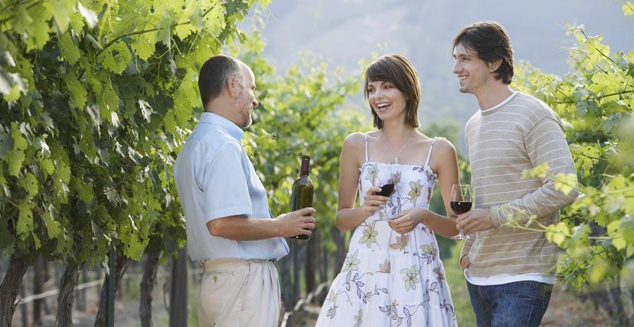 Couple Enjoying a Glass of Wine