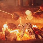 Marshmallows being toasted