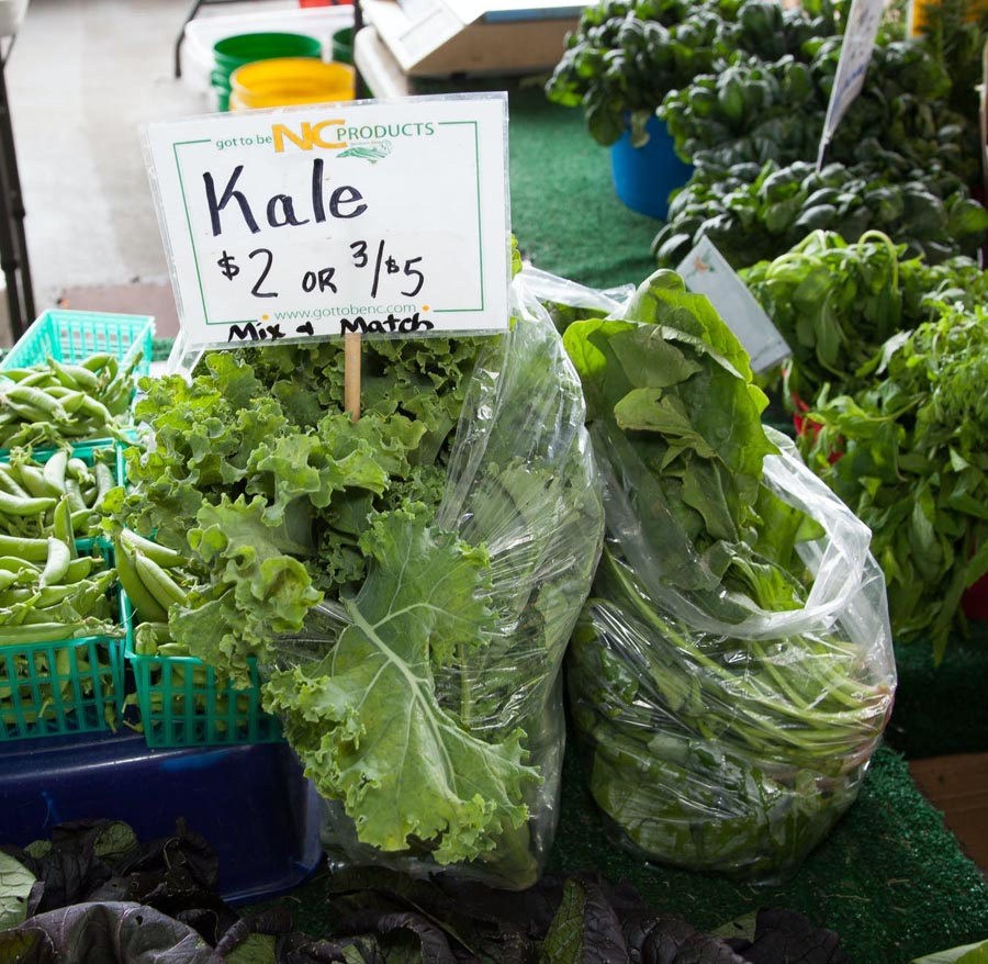 Kale for sale in market