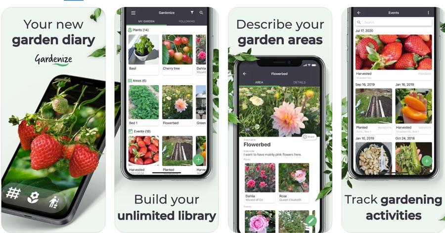 Gardenize apps