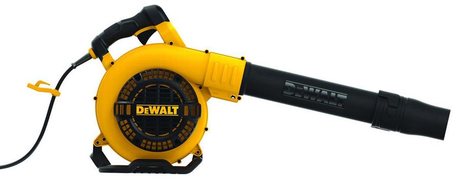 Leaf blower viewed from side