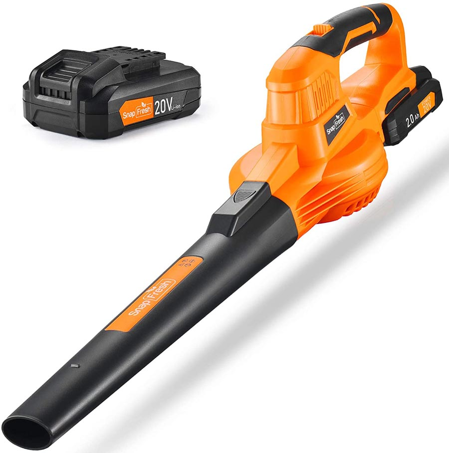 Leaf blower and battery