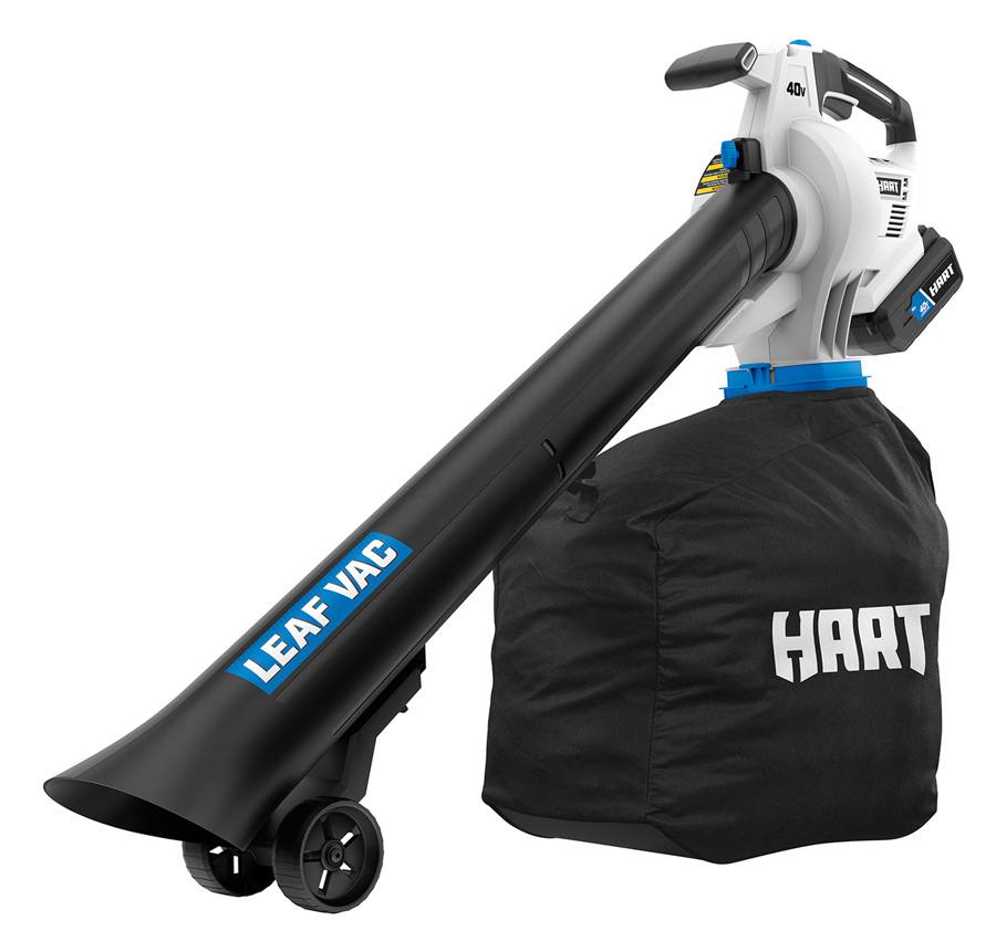 Leaf blower with bag attached