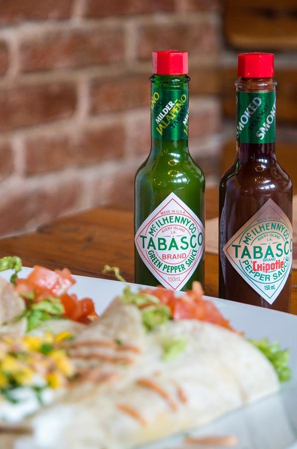Tabasco sauce bottles