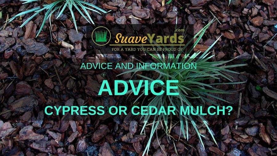 Cypress or cedar mulch header