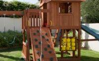 Play Equipment in Backyard