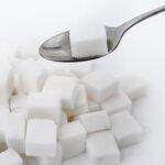 Sugar cube on spoon